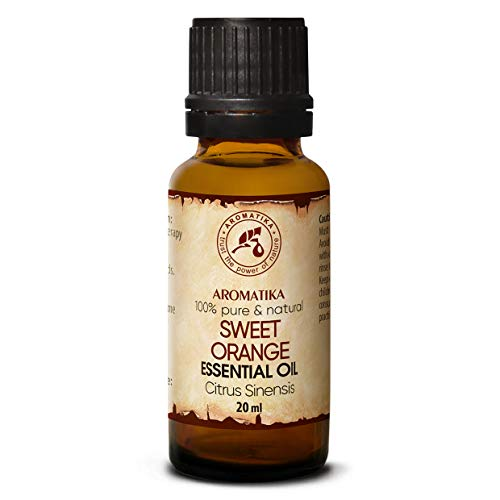 Olio Essenziale di Arancia Dolce 20ml - Citrus Sinensis - Brasile - Allevia la Tensione - Buon Umore - Rilassante - AntiCellulite - Profumi per la Casa - Aromaterapia - Massaggio