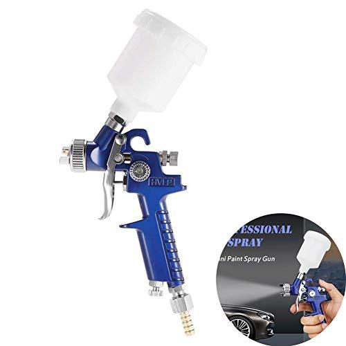 Pistola spray per vernice HVLP da 1,0 mm Pistola a spruzzo 120 ml Pistola Spray per Verniciare con Contenitore Airbrush Kit Aerografo