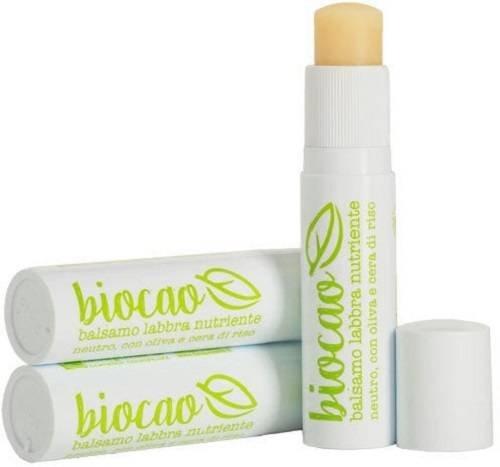 LA SAPONARIA - Biocao Balsamo Labbra Nutriente Neutro - Ricco di Ingredienti Idratanti e Protettivi - Ricco di vitamina E - Vegan - 5.7 ml