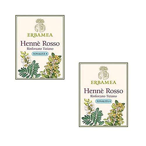 Erbamea HENNE' ROSSO Rinforzato Tiziano 100 g | 2 Confezioni