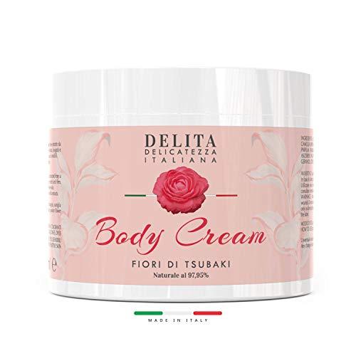 Dulàc - Body Cream - Crema Corpo Idratante ai Fiori di Tsubaki - 500 ml - Idrata, rassoda e leviga la tua pelle - Naturale al 97,95% - DELITA