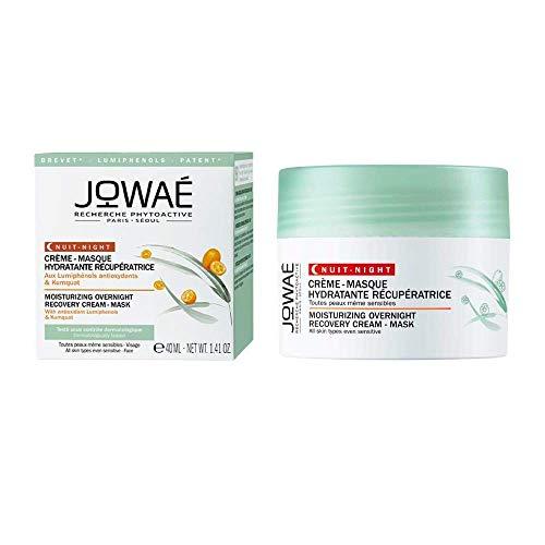JOWAÉ Crema Maschera Idratante Rigenerante Notte Anti Fatica con Kumquat, per Tutti i Tipi di Pelle, anche Sensibile, Formato da 40 ml