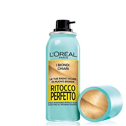 L'Oréal Paris Ritocco Perfetto Dedicato alle Bionde Spray Ritocco Radici, Copre la Ricrescita Scura e Dura 1 Shampoo, I Biondi Chiari, 75 ml
