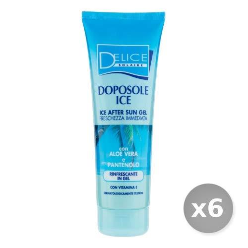 Set 6 DELICE Doposole ice gel 250 ml prodotto solare per la pelle