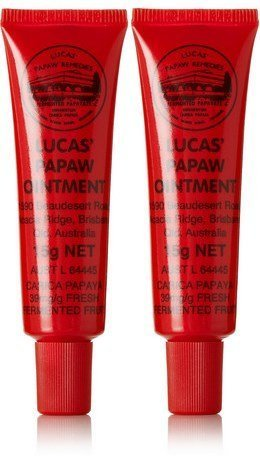 Lucas Papaw Ointment 15g Tube with lip applicator - TWIN Pack for value