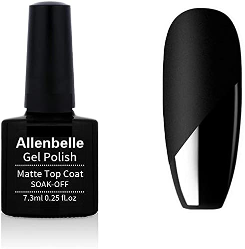 Allenbelle Matte Top Coat Per Smalto Semipermanente Nail Polish UV LED Gel Unghie (Matte top coat)