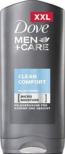 Dove Men + Care Clean Comfort (per una piacevole sensazione sulla pelle con formula delicata e tecnologia micro-umidità), confezione da 6 (6 x 400 ml)