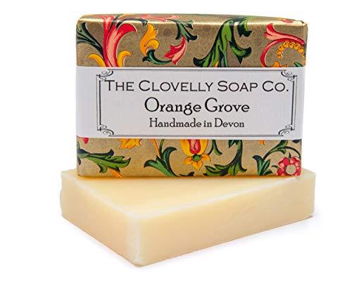 Clovelly Soap Co Saponetta Naturale e Fatta a Mano Aranceto, per Tutti i Tipi di Pelle, 100gr