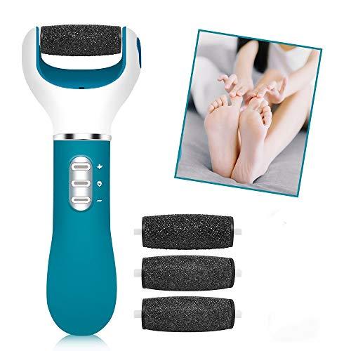 Pedicure Elettrico, Professionale Roll Pedicure Rimuovere per Piedi, Strumenti di Pedicure Ricaricabili Rimozione della Pelle Morta per la Cura dei Piedi, Vieni con 4 Teste a Rullo e 3 Velocità