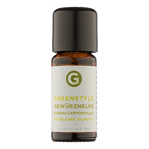 Greenstyle, chiodi di garofano, (10 ml), olio essenziale ai chiodi di garofano, naturale al 100% (etichetta in lingua italiana non garantita)