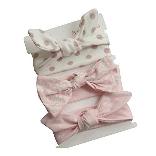 COUXILY Neonate Fasce morbide in cotone Fiocco annodato con fiocco Fascia elastica Solido e stampato Fiocco di colore Fiocco per capelli per i più piccoli Neonati Set regalo per bambini (B02)