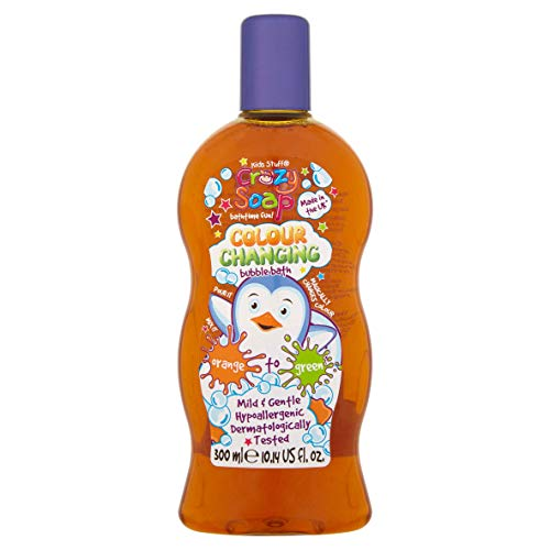 Kids Stuff Crazy Bagnoschiuma con bolle cambia colore, magico unicorno scintillante, 300 ml