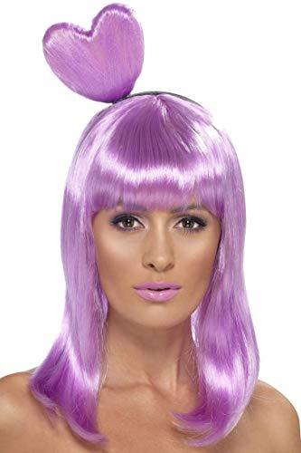 SMIFFYS Parrucca da regina delle caramelle, lilla, con cerchietto a cuore
