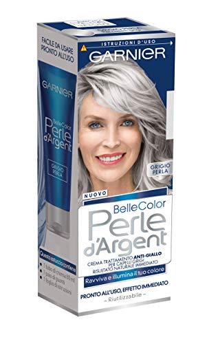 Garnier Trattamento Anti-Giallo Belle Color Perle d'Argent, Crema Trattamento per Capelli Grigi e Bianchi, Grigio Perla, Confezione da 1