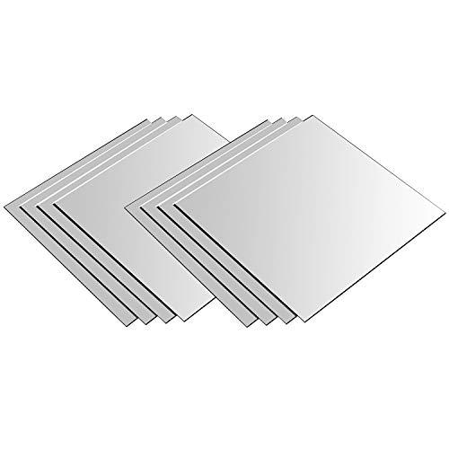 Specchio Quadrato 20,5x20,5cm Mosaico di piastrelle Set da 8 pezzi