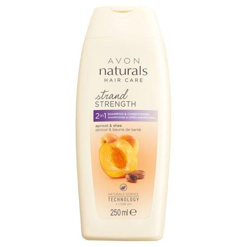 Avon 2-in-1Naturals shampoo e balsamo, golden albicocca e karitè 250ml