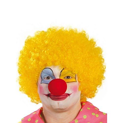 Guirca Parrucca riccia gialla clown pagliaccio