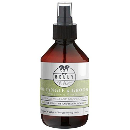 BELLY Shampoo a Secco Spray per Cani, 250ml, Pulizia Cane senza risciacquo, Effetto Districante, Rinfrescante e Profumante per il pelo del cane, Con Aloe Vera e Olio di Magnesio