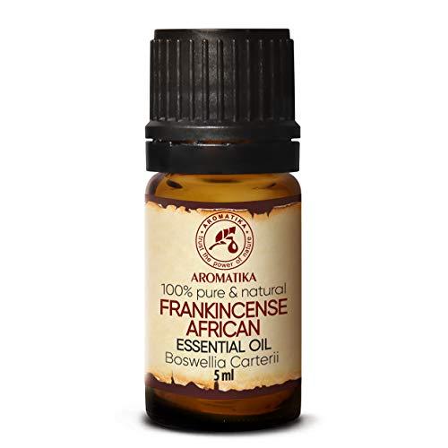 Olio Essenziale di Incenso 5ml - Boswellia Carterii - Africano - 100% Puro - Cura del Corpo & Pelle - Aromaterapia - Diffusore di Aromi - Lampada di Fragranza - Fragranza della Stanza