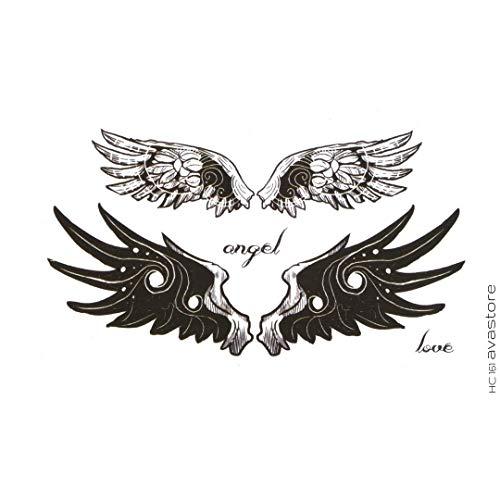 Tatuaggio Temporaneo - Tatuaggio Ali di angelo