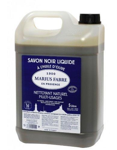 Marius Fabre 529 Sapone Liquido, Tanica, Nero, 5 L