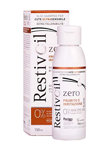 RestivOil Zero Shampoo Anti Prurito e Irritazione per Capelli Olio Fisiologico Delicato ad Azione Detergente, per Tutti i Tipi di Capelli, 150 ml