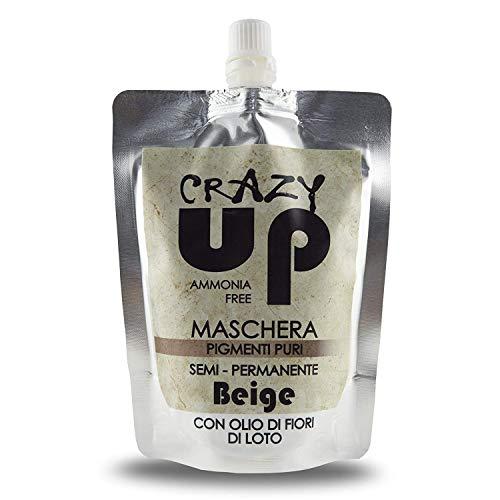 Crazy Up Maschera Colorante Senza Ammoniaca Semipermanente per Capelli - Beige - 200 ml