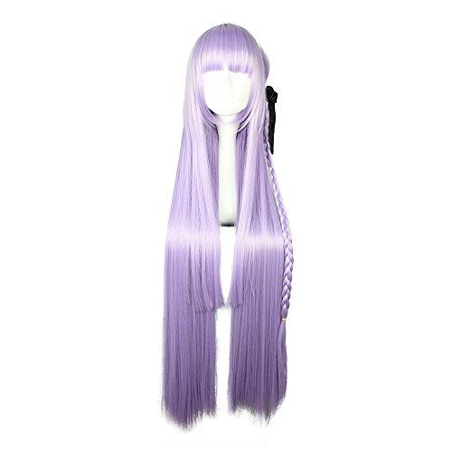 COSPLAZA Anime Cosplay parrucca Danganronpa Kyouko Kirigiri lunghi capelli sintetici
