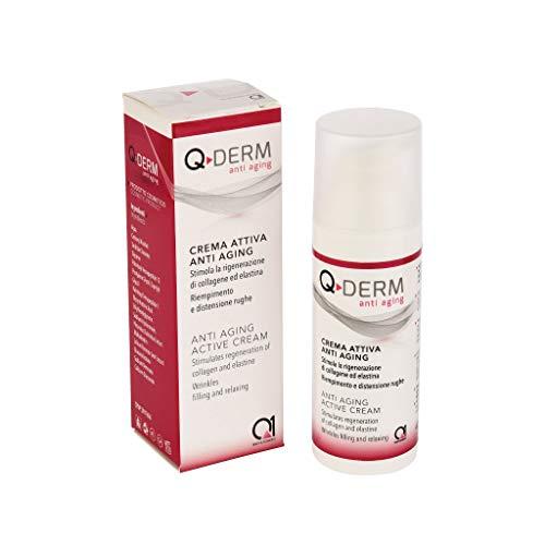 Q-DERM ANTI AGING Crema attiva anti age per viso e mani - Ideale per rughe, pelle segnata e pelle invecchiata