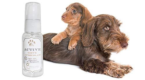 Officine Cosmeceutiche srl Gocce Auricolari per Cani, Prodotto BIO detergente ad Azione otoprotettiva a Base di olii Essenziali