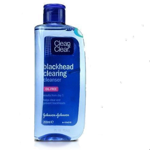 Johnson's Clean & Clear Blackhead Clearing Cleanser Oil Free 200 ml (2 Packs)