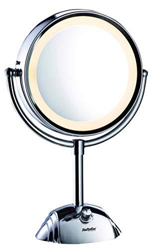 BaByliss 8438E Specchio Luminoso, Circolare, Double Face Ingrandimento 1x / 8x