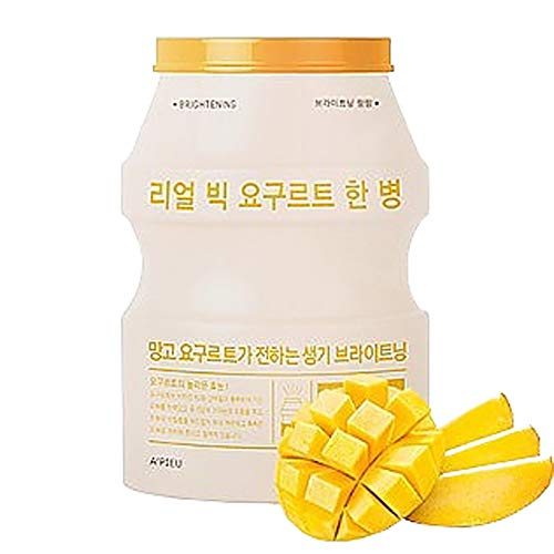 [Apieu]Real Big Yogurt One Bottle(Mango) Pack of 10 - Prebiotics Mask Sheet Korean Mask Pack