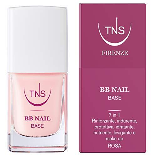 TNS Cosmetics - BB NAIL base smalto e trattamento rinforzante 7 in 1 per unghie - 10 ml - rosa