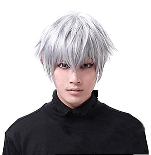 Cosplay Parrucca corta Mens Tokyo Ghouls Ken Kaneki Cosplay parrucca Parrucche per il Natale del partito di Halloween, necessità quotidiane