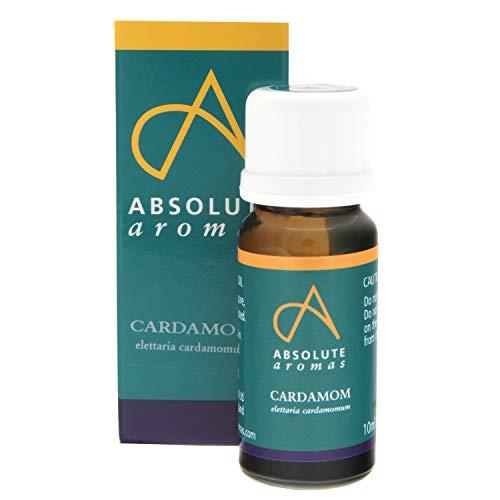 Absolute Aromas Olio Essenziale di Cardamomo 10 ml - 100% Puro, Naturale, Non Diluito, Vegano e Cruelty Free - Per Uso in Diffusori e Miscele per Aromaterapia