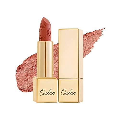 OULAC Metallico Brillare Rossetto, Glitter 3D Lunga Durata, Altamente pigmentato e ad alto impatto, Impermeabile e resistente al sudore Trucco colori, Shine lipstick, 4,3 g, Sii felice (05)