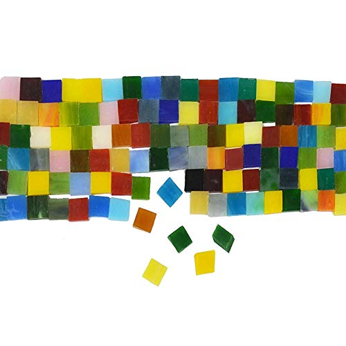 Lynn 360 pezzi Mosaic Tiles Stained Glass Assorted Colors for Art Craft and Home Decations - Piastrelle a mosaico in vetro, pittura artistica e decorazione di interni