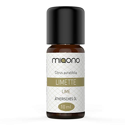Olio essenziale di lime, 100% naturale, 10 ml di miaono (bottiglia di vetro)