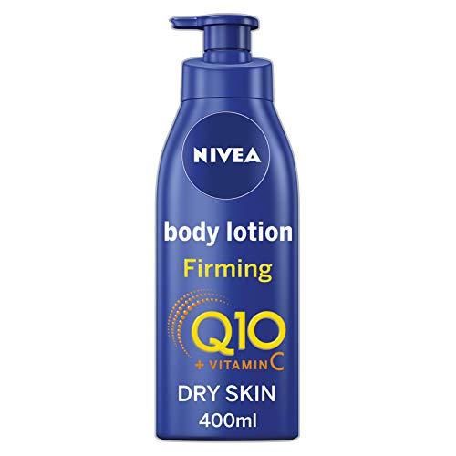Nivea, lozione rassodante per il corpo Q10 + vitamina C (400 ml), crema rassodante nutriente con Q10 e vitamina C, crema idratante morbida Nivea per una pelle rassodata