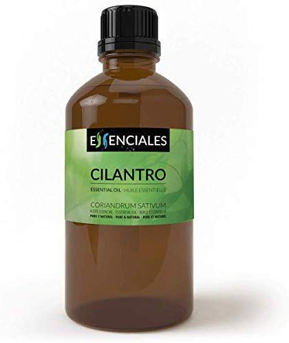 Essenciales – Olio Essenziale di Coriandolo, 100% Puro e Naturale, 100 ml | Olio Essenziale di Coriandrum Sativum Ideale per Aromaterapia