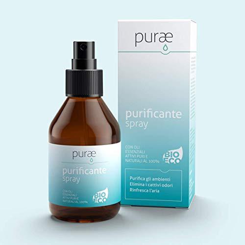 Purae purificante Aria Spray 100ml bio Eco con Oli Essenziali Puri 100%