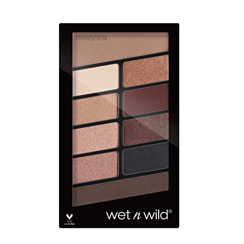 Wet n Wild - Color Icon 10 Pan Palette - Palette Ombretti Occhi Makeup - 10 Colori, Mix di Finish Shimmer e Matte per Look Giorno e Sera - Tenuta Estrema, Facile da Sfumare - Vegan - Nude Awakening