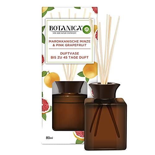 Botanica by Air Wick Vaso profumato – Profumo: Menta Marocchina & Pompelmo rosa – Realizzato in modo sostenibile con ingredienti naturali – 1 x Profumo per ambienti con bastoncini