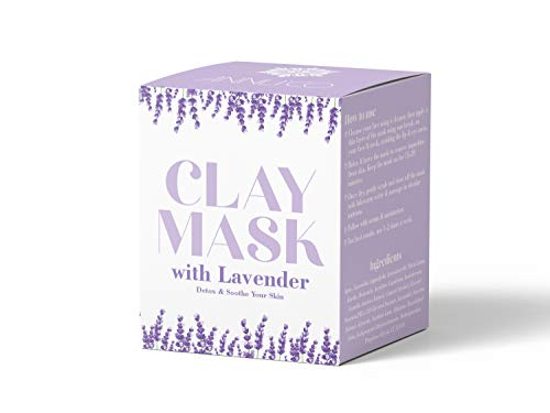 Annli'Co, maschera di argilla con lavanda | minimizzatore dei pori e trattamento dell'acne | pulizia dei pori, lenitiva, schiarente disintossicante | semplice naturale 100% vegano