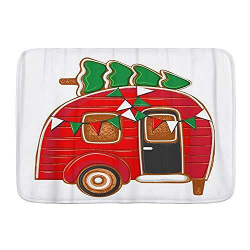 VINISATH Tappetini da Bagno per Bagno,Pan di Zenzero Il Natale di Cottura Auto Board Camping Grunge,Tappetinida Bagno Antiscivolo con Assorbente d'Acqua,Tappetino per Pediluvio Morbido