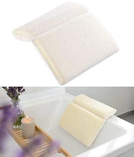newgen medicals Cuscini da bagno: Cuscini da bagno in schiuma con rivestimento traspirante (Vasche da bagno Cuscino per il collo)