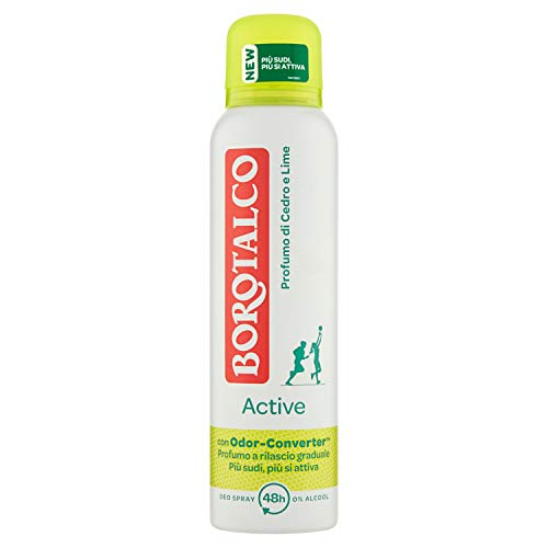 Borotalco - Active Profumo di Cedro e Lime Deo Spray 0% Alcool - 150 ml