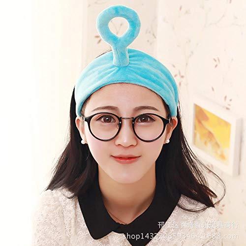 Fascia per capelli Teletubbies, fascia creativa, fascia per capelli, prodotti per il lavaggio del viso per i coinquilini-Onda blu
