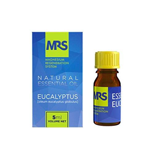 Olio Essenziale di Eucalipto, Ottimo per il Dolore Muscolare, 100% Olio Naturale Organico Puro e Di Massima Qualità, per Massaggi, Bagno ed Aromaterapia, 5ml, della MRS